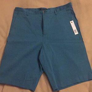 Elie Tahari blue linen shorts